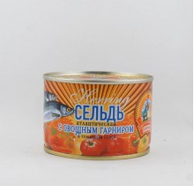Сельдь атлантическая в т/с с овощным гарниром, 240г, КТК (г. Калининград)