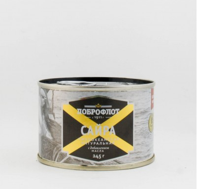 Сайра с добавлением масла, 240 гр, Доброфлот_0