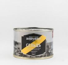 Сельдь натуральная с добавлением масла, 240 гр, Доброфлот