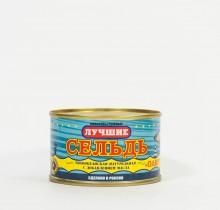 Сельдь натуральная с добавлением масла, 240 гр,  (Калининград)