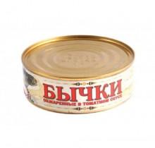 Бычки в томатном соусе, 240 гр, Рассвет (г. Темрюк)