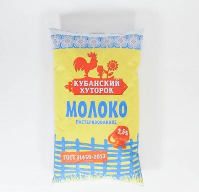 Молоко Кубанский хуторок 0,9л 2,5%_0
