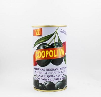 Маслины Коополива, 370 мл, с косточкой, Испания_0