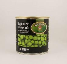 """Горошек зеленый 420г, премиум """"Юнона"""""""