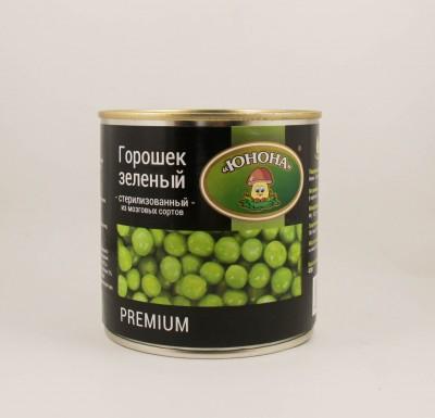 """Горошек зеленый 420г, премиум """"Юнона""""_0"""