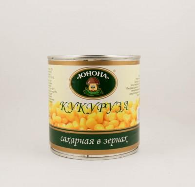 """Кукуруза сахарная в зернах, 340г, """"Юнона""""_0"""