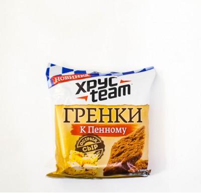 Гренки ХрусTeam к пенному ОСТРЫЙ СЫР 105г_0