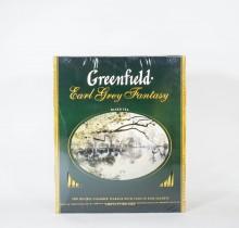 Чай Гринфилд Эрл Грей черный  с бергамотом 100 пакетиков