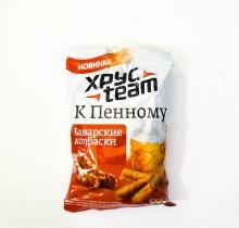 """Сухарики """"ХрусTeam к пенному - Баварские колбаски"""" 90г"""