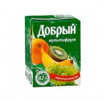 Сок ДОБРЫЙ в ассортименте 0,2л