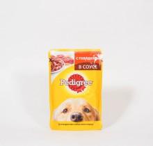 Педигри мягкий корм Говядина 100г