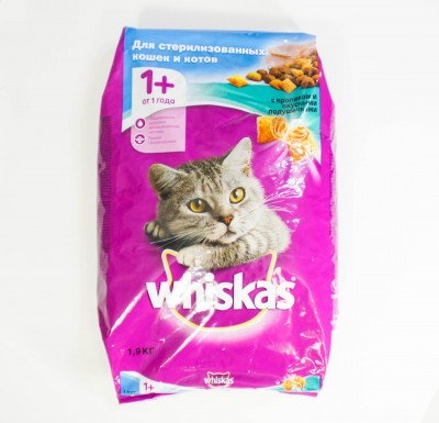 Вискас c Кроликом и вкусными подушечками 1,9 кг_0